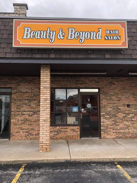 the hair salon's exterior